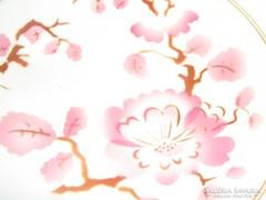 Gyönyörű vintage virágos gránit fali tányér