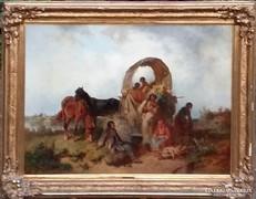 Adolf van der Venne Cigánytábor 108x78