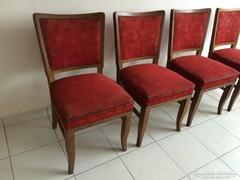 Kárpitozott art deco szék 4db