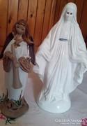 2 db vallási , kerámia szobor , együtt , olcsón !