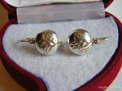 Ezüst lencse fülbevaló/925-ös,nagy méret/