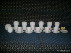 Hófehér porcelán teás és kávés készlet