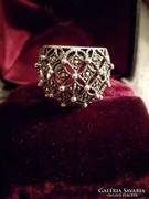 Ezüst markazitos széles gyűrű Ag 925
