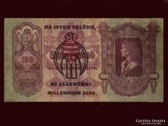 100 PENGŐ ROPOGÓS - FELÜLPECSÉTELVE