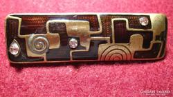 Különleges, régi rekesz zománc, réz, bronz medál