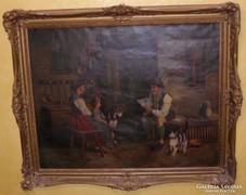 Antik Némrtalföldi festmény