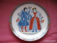 Kurt Hammer gyüjtői retro, vintage jelenetes tányér