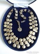 Gyönyörű egyedi antik ezüst nyaklánc