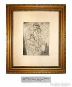 Hincz Gyula  20x18 cm rézkarc