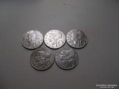 5 db ezüst osztrák 10 Schilling!