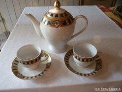 Kék-arany holland porcelán kávés készlet 2 személyes (69)
