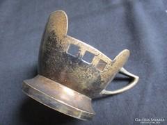 Abszolut BÉCSI SZECESSZIÓS gyüjtői pohár ezüstözött fém