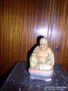 Kis Budha szobor, zománzozott gipsz, 16 x 9 x 7 cm Zéger Gy.