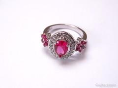 Káprázatosan csillogó ródiumozott,köves ezüst gyűrű!