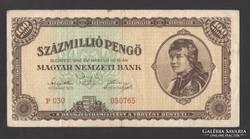 Százmillió pengő 1946. NAGYON SZÉP!!!