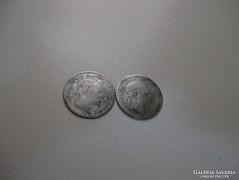 2 db ezüst 20 Krajcár 1869!!!!!! R!