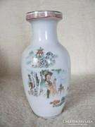 Keleti mintás porcelán váza