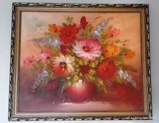 Virágcsendélet Bihari szignóval
