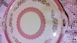 Biedermeier hatalmas porcelán tálca 39 cm