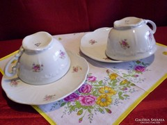 Zsolnay pajzspecsétes 2 teás csésze 3 tányérral