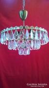 Art  deco  kristály csillár  lámpa + falilámpa