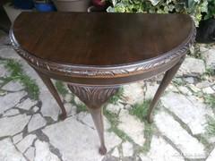 Konzol asztal faragott antik