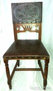 Antik Szecis bőrülőkés szék