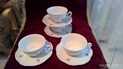 Zsolnay teás csésze és alj 4 db