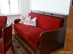 Retro kihúzható kanapé, rekamié
