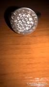 Valódi Bvlgari ezüst gyűrű szikrázóan csillogó  kövekkel