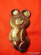 Ritka réz olimpiai Misa maci falidísz