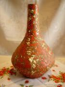 Retro Tófej kerámia váza 23 cm