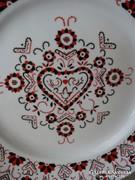 Hollóházi porcelán falitányér