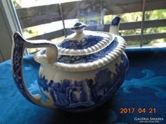 Copeland-Spode- kék mintás tea kiöntő