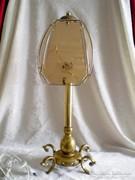 Antik réz asztali lámpa 60 cm magas, egy égővel
