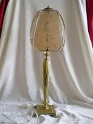 Antik réz asztali lámpa 64 cm magas, kettő égővel