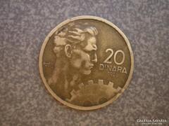 20 dinár 1955