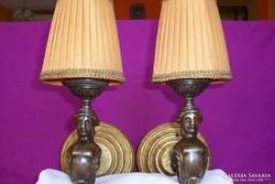 Empír stílusú réz vagy bronz falikar pár