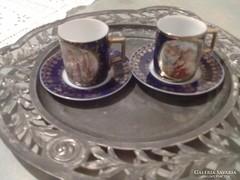 Altwien jelenetes mokkás csészék 2 darab