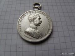 Franz Joseph Brawery medal,1880. ezüst gyönyörű! RRR! (6)
