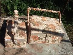 Varródoboz-pipere doboz-tároló ládika textil