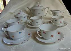 Antik zsolnay teás készlet (5+1)