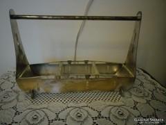 Régi ezüstözött szecessziós asztalközép kínáló Különleges !!