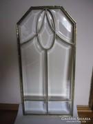 Gyönyörű régi szecessziós üveg ajtóbetét