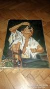 Antik olaj festmény vászonra!!!Jelezve:Ferenczy Károly