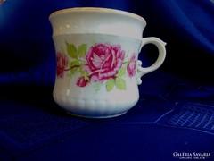 Zsolnay, antik rózsás bögre