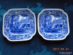 2 db Copeland-Spode kék mintás kis tányér-15x15cm-1