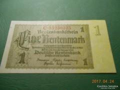 1937 1 RENTENMARK, NÉMETORSZÁG