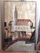 Balázs József Róbert nagy márványmozaik kép