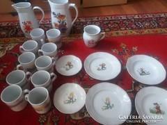 Zsolnay Alföldi ,német porcelánok